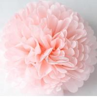 Best Light Pink Party Decoration Paper Flower Tissue Paper Pom Poms Balls Craft wholesale