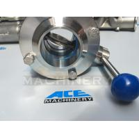 Best Sanitary Stainless Steel Butterfly Valve with Weld Ends (ACE-DF-2D) wholesale