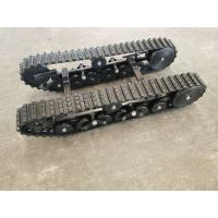 Best 43kg Tracked Robot Chassis DP-BGM-100 / Engineering Machinery Miniature Rubber Tracks wholesale