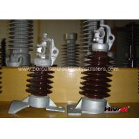 Best 15kV - 25KV Brown Color Line Post Insulator With Clamp Top And Long Bolt wholesale