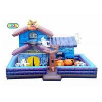 Best Halloween Haunted House Inflatable Bounce House Combo With Blower Maintenance Kit wholesale