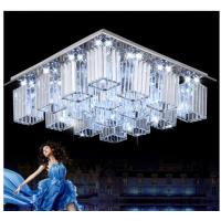 Best Square crystal ceiling lamp modern LED glass crystal ceiling lamp wholesale