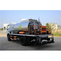Best HOWO 4000L Asphalt Construction Equipment Covered With Stainless Steel Sheets wholesale