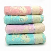 China Face Towels/Wash Clothes, Made of Cotton, Available in Various Colors with High-water Absorption on sale
