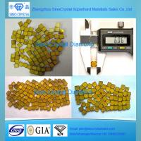 China big size yellow Synthetic industrial HPHT CVD diamond plate on sale