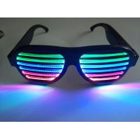 Buy cheap 2019Hot Sales New Style Rechargeable LED Flashing Glasses for Promotion Gift from wholesalers
