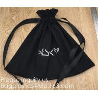Best 100% Cotton Canvas Favor Bag Pouch with Drawstring,Cotton Breathable Dust-Proof Drawstring Storage Pouch Multi-Functiona wholesale