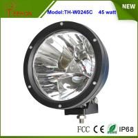Best 7 inch 45W Round LED Work Light in Spot Beam for Truck,Jeep,SUV, Offroad UTE 12V or 24V DC wholesale