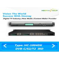 Satellite Terrestrial IRD Integrated Receiver Decoder 4 Tunners With 4 CAM Slot Multiplexing