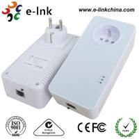 Best 1200Mbps Passthrough Powerline Adapter with Power Socket Powerline Line Communication wholesale