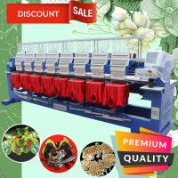 China 15 needles 400*450mm cap t-shirt flat 3d 8 head computer embroidery machine for sale but cheaper than brother embroidery on sale