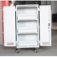 Best White Mobile Charging Cart Steel Material 60 Units Laptop Charging Cart wholesale