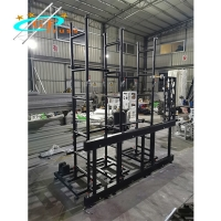 Buy cheap Double Base Aluminum Wall Support LED Screen Truss Module Size 1000*1000mm from wholesalers