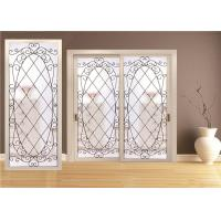 China Double Pane Sliding Glass Door Hollow Stained Glass Panels Air / Argon Insulating on sale