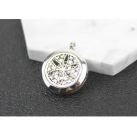 Best Openwork Flower Essential Oil Diffuser Pendant , Essential Oil Locket Necklace wholesale