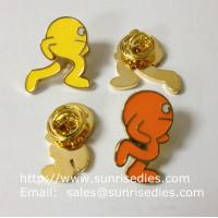 Best Color filled image icon lapel pins, color filled Cartoon icon emblem pin badge, wholesale