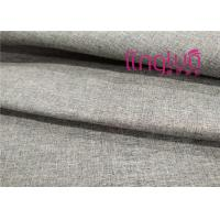 Best Solid Color Shoes Fabric 100% Polyester Yarn Dye Linen Imitation Type wholesale