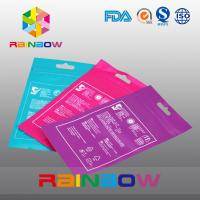 China OPP Header Bags With Adhesive Strip For Tissue /  Printed Cellophane Bags With Logo on sale