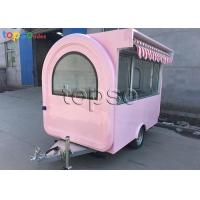 Best Popular Mobile Food Trailer Safe Mobile Catering Units Dual Towing Chains wholesale