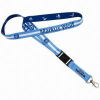 China Custom Sublimated Printing Lanyard, Made of Polyester on sale
