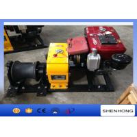 Best Tower Erection Mechanical Device Diesel Cable Winch 8 Ton With 10HP Diesel Engine wholesale