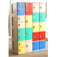 Best 1609 X 727 X 300 Mobile Phone Lockers Blue / Beige Double Tier Lockers With Charging wholesale