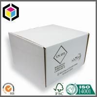 China White Color Corrugated Cardboard Packaging Box with Divided Inserts for Food on sale
