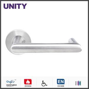 Best OEM Door Handle Hardware EN1634 Satin Finish With Medium Size Plate Design wholesale