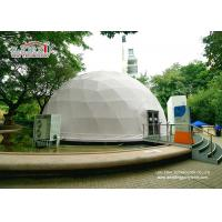 Best Building Waterproof Flame Retardant Geodesic Dome Tents , Glass Door Geodesic Dome Shaped Tents wholesale