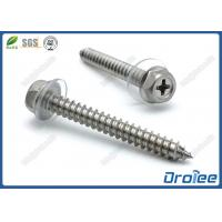 Best Stainless Steel 304 316 Philips Hex Washer Head Sheet Metal Screws with PVC Washer wholesale