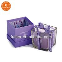 China Glossy Lamination Cardboard Candle Boxes Scented Candle Packaging Tube on sale