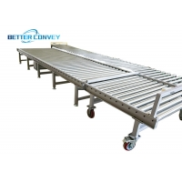 China Flat Bottoms T Slot 75 Mm Chain Drive Roller Conveyor Equipment on sale