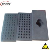 China High density Conductive Foam tray with  custom size on sale
