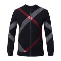 Best Slim Fit Mens Warm Winter Sweaters Zip Front , Mens Knitted Cardigan Jacket wholesale