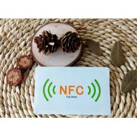 Cheap Customized smart NFC tag / sticker Ntag203 13.56MHz ISO/IEC 14443A Air Interface Protocol for sale