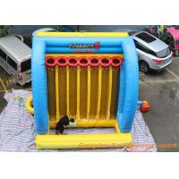 Buy cheap Giant Inflatable Sport Games Connect 4 Basketball Hoops Yellow / Blue / Red from wholesalers