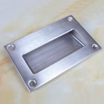 Best Large size125x83mm stainless steel flush hidden door pull handle wholesale