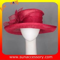 Best Elegant fancy Church sinamay hats for ladies ,Sinamay wide brimhats wholesale