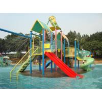 Best Plastic LLDPE Water Playground Equipment , Outdoor Water Park For 10 Children , Powder Coated wholesale