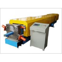 China Galvanized cold steel sheet rain downspout pipe roll forming machine single chain driving on sale