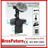 Best 120 Degree Lens Robot Nighvision Function Automobile Car Video Recorder With Dual Cameras wholesale