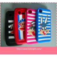 Eco-Friendly Silicone Cell Phone Cases Colorful With Cartoon Style