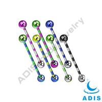 Best Unique Surgical Steel 14G Industrial Barbell Piercing Jewelry wholesale