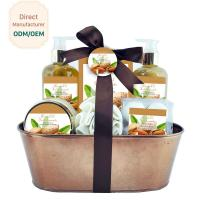 Buy cheap Mild Body Care Bath Gift Set / Chocolate Bubble Bath Gift Set Willow Basket from wholesalers