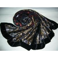 Best Burntout Silk Velvet Scarf (LC-C215) wholesale