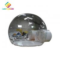 China Outdoor Inflatable Transparent Tent , Air Dome Tent With Steel Frame Corridor on sale