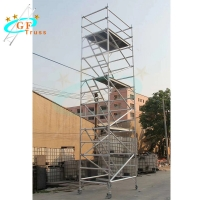 Best 6082 Aluminum Scaffold Tower Pipe Parts With Climb Ladder wholesale