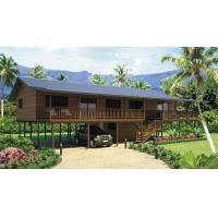Best Holiday Living Home Beach Bungalows , Wooden Bungalow With Light Steel Frame wholesale