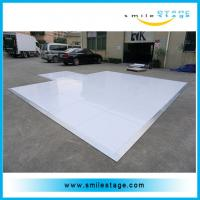 China Portable laminate high gloss white dance floor for events on sale