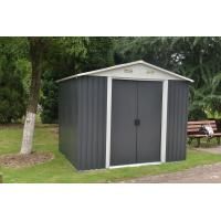 China Hinged Door Steel Garden Sheds , Metal Storage Sheds Maintenance Free on sale